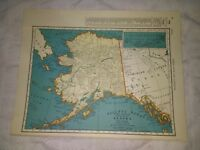 1942 Map of Alaska With A Railroad Map of Wyoming On The Reverse
