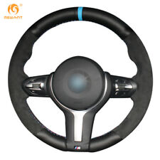 Black Suede Steering Wheel Cover for BMW F87 M2 F80 M3 F82 M4 M5 F30 M #BM94