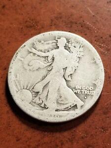 1916 D Walking Liberty Silver Half Dollar, key date      INV08     HL8113
