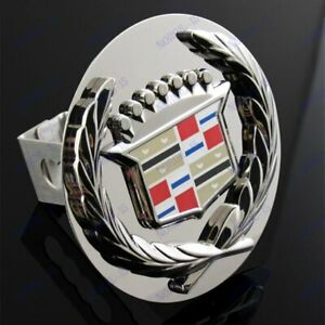"""Chrome For Cadillac Classic Style Towing Hitch Cover Plug 1.25"""" Trailer Receiver"""