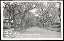 FORT RILEY KS Ground General School Center Forsyth Avenue Vtg RPPC Postcard Old