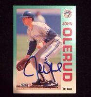 JOHN OLERUD 1992 FLEER Autographed Signed AUTO Baseball Card 339