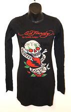 ED HARDY CHRISTIAN AUDIGIER Long Sleeve SHIRT Black Red Skull Love Heart Top NEW