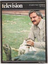 HAL LINDEN 1977 St Louis Post Dispatch TV Guide Magazine ANIMALS ANIMALS ANIMALS