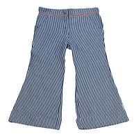 JACADI Girl's Mesure Navy/White Striped Flared Trousers Size 8 Years $64 NWT