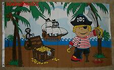 3'x5' Treasure Island Boy Pirate Flag Banner Indoor Outdoor Chest Gold Ship 3X5