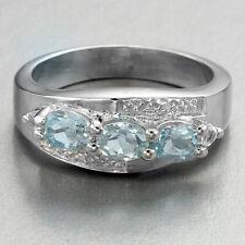 Timeless Blue Topaz Cocktail Ring ~ Size 7