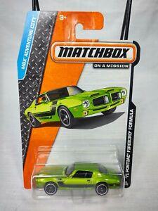 2014 Matchbox On A Mission '71 Pontiac Firebird Formula #11 Green