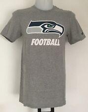 Seattle Seahawks Gris NFL T-Shirt Graphique Chemise Par Nike Taille Adulte Petit NEUF