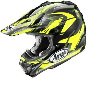 Arai MX-V Dazzle Neon Yellow MXV Motocross Offroad MX Race Helmet Adults