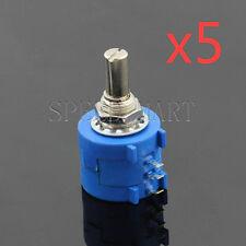 5 X 10K Ohm 3590S-2-103L Rotary Wirewound Precision Potentiometer Pot Multiturn