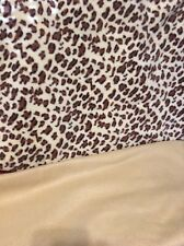 Fleece Leopard Throw Blanket With Matching Solid Blanket.