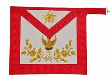 New MASONIC REGALIA 18th DEGREE APRON Rose Croix Aprons Hand Embroidered