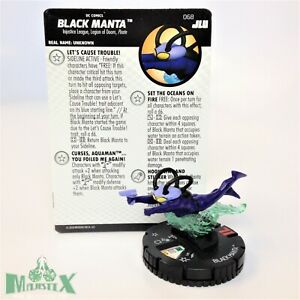 Heroclix Justice League Unlimited set Black Manta #068 Chase figure w/card!