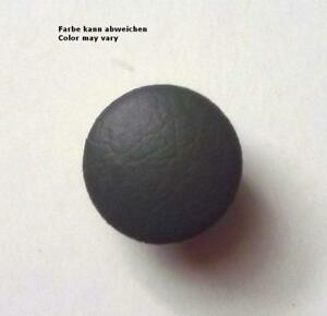 Cushion Leather Button Leather Buttons 0 23/32in Gray Real Leather Covered