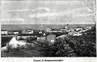Sommacampagna: Panorama. Stampa Antica + Passepartout. 1895