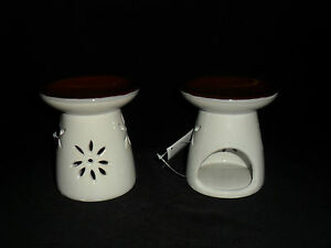 Tart/Candle Burner Mushroom White Brown ( can be used with Yankee candles )