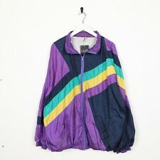 Vintage 90s ABSTRACT Soft Shell Windbreaker Jacket Purple XL
