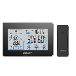 BALDR Wireless Weather Station with Temperature and Humidity Touch Screen