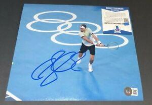 ALEXANDER ZVEREV SIGNED 8X10 PHOTO 2020 2021 TOKYO OLYMPICS TENNIS GERMANY BAS C