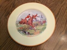 "Johnson's Brothers England  Pareek Dinner Plate 10 5/8"" people riding horses"