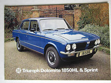 Triumph Dolomite 1850HL & Sprint sales brochures.