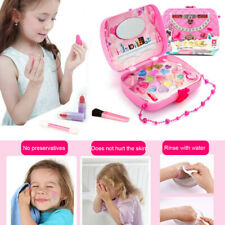 Pretend Kids Make Up Gifts Set NON-TOXIC Makeup Case Box Toy for Girls Washable