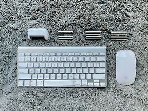 Apple Magic Mouse, Wireless Keyboard (2011), and Rechargeable Batteries Bundle