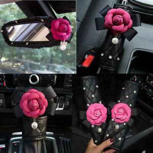 Goyentu Abstract Brown Art Flower Car Seat Covers Set Stretch Soft Auto Accessories Decor Protector Universal Fit SUV Van Sedan