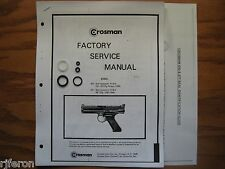 Crosman 600 677 Pistol Seal Kit - Factory Service Manual - Instructions - Guide
