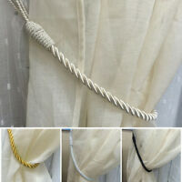 2PCS Thick Quality Plain Rope Curtains Tie backs Tiebacks Decorative Holdback