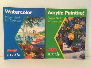 2 Walter Foster Watercolor & Acrylic Painting Project Books For Beginners NEW!