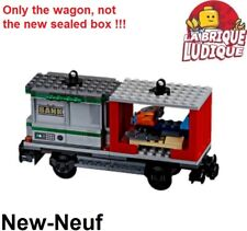 Lego City Cargo Train Railway wagon bank container scooter des neige 60198 NEUF
