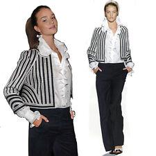 Oscar De La Renta Runway Striped  Jacket sz 10 USA