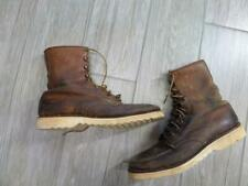 vintage 1950s work boots SEARS moc toe 8.5 brown leather CREPE sole irish setter