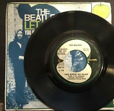 "The Beatles ‎– Let It Be 45 Italian Issue with Error  ""(Look U The Number)"""