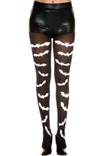Music Legs Gothic Bat Print Pantyhose Tights Halloween