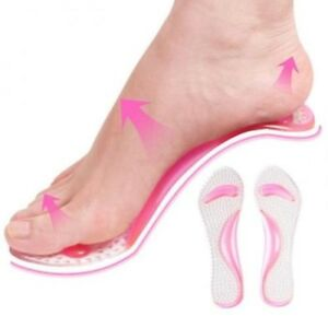 Massaging Silicon Gel Insoles Arch Support High Heel Flat Shoe Pad Inserts Feet