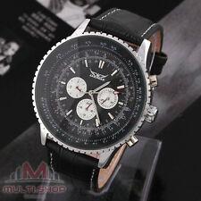 HERREN UHR Luxus Watch Automatikuhr Edelstahl Armbanduhr Geschenk A034 Schwarz