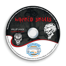 SKULLS CLIPART-VECTOR CLIP ART-VINYL CUTTER PLOTTER IMAGES & T-SHIRT GRAPHICS CD