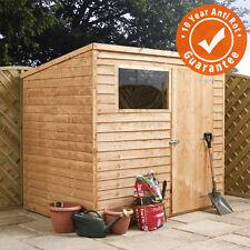8x6 Wooden Overlap Garden Storage Shed Windows Single Door Pent Roof 8ft 6ft