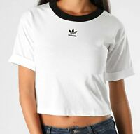 Adidas Originals Women's Crop Top NEW AUTHENTIC White/Black GD2359
