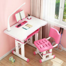 �Children's Study Desk, Writing Desk And Chair Set Can Be Raised And Lowered ☆