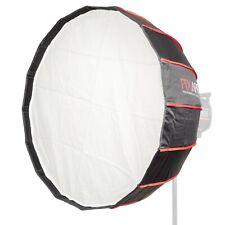 Easy-Open Umbrella Deep Parabolique Rice Bowl Softbox Reflective Silver intérieur