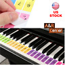 Piano Keyboard Stickers for 88/61/51 Key Set Removable Colorful Stickers Music