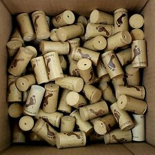 Lot of 100 Wine Corks Synthetic All Barefoot Logo Arts Crafts Projects Upcycle