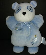 Carter's Best Friends Blue Rattle Stuffed Animal Plush Toy Baby White Dog Bird