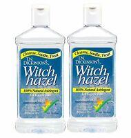 Dickinson's Witch Hazel 100 % Natural Astringent Face & Body 16 fl oz, 2 PACK