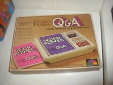 "READERS DIGEST>>> Q&A ""COMPUTER QUESTION & ANSWER GAME"" 1980 << COMES W/ 5 BOOKS"