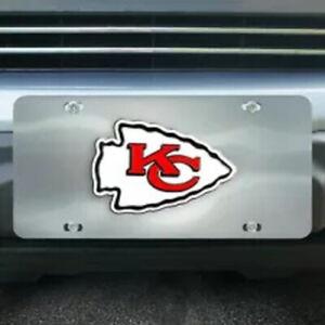Kansas City Chiefs Chrome Die Cast License Plate